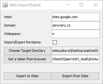 Zálohy stránek na Google Weby