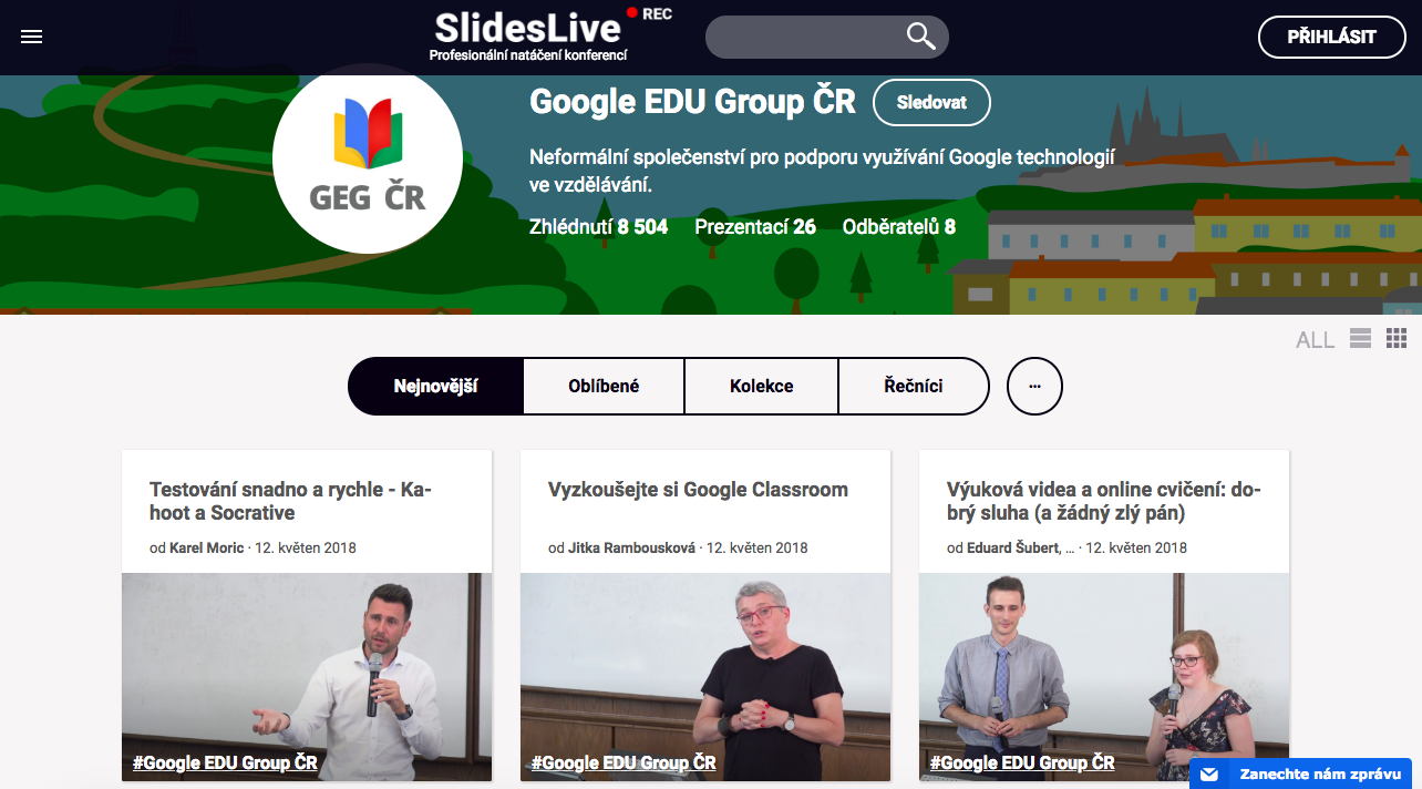 Google Classroom na GEGfestu